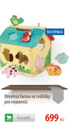 Dřevěná farma se zvířátky pro nejmenší