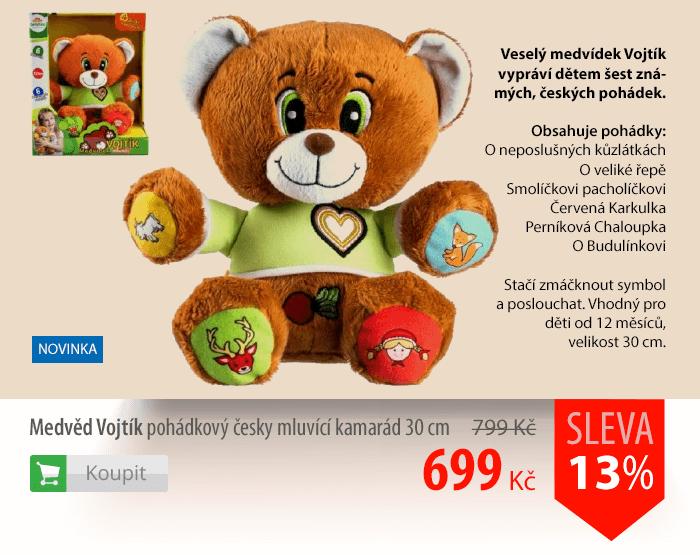 Medvěd Vojtík pohádkový česky mluvící kamarád 30cm