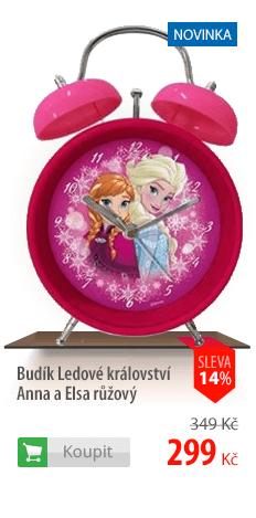 Budík Ledové království Anna a Elsa