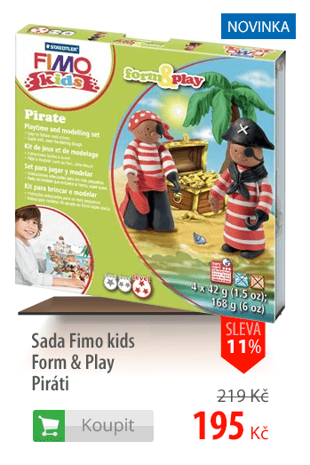 Sada Fimo kids Form & Play Piráti