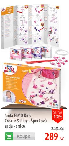 Sada Fimo Kids Create & Play šperky Srdce