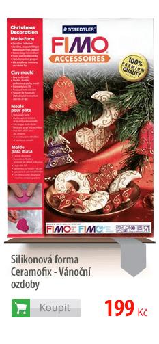 Silikonová forma Ceramofix Vánoční ozdoby
