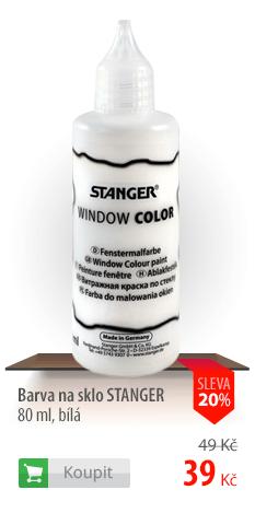 Barva na sklo Stanger bílá