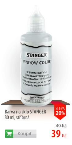 Barva na sklo Stanger stříbrná
