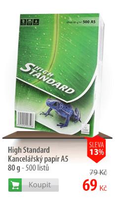 Kancelářský papír High Standard A5