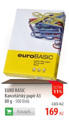 Kancelářský papír Euro Basic A3