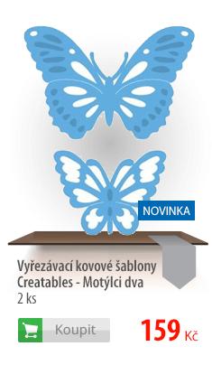 Kovové šablony Creatables motýli