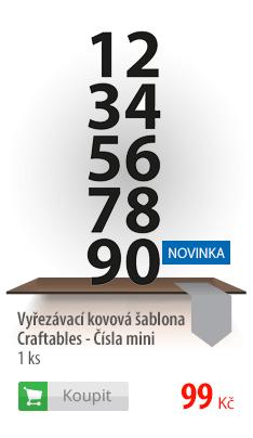 Kovová šablona Craftables čísla