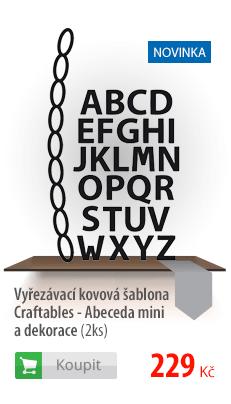 Kovová šablona Craftables abeceda