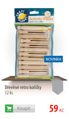 Dřevěné retro kolíčky