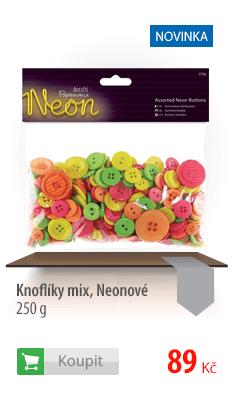 Knoflíky neonové