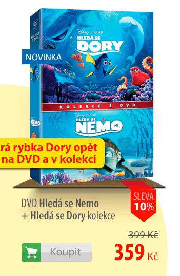DVD Hledá se Nemo + Hledá se Dory