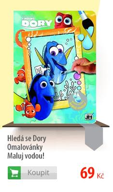 Hledá se Dory Omalovánky maluj vodou