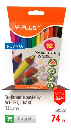 Trojhranné pastelky Y-Plus We-Tri Jumbo