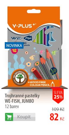 Trojhranné pastelky Y-Plus We-Fish Jumbo