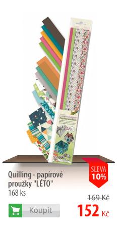 Quilling papírové proužky Léto