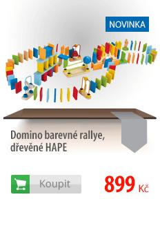 Domino barevné dřevěné Hape