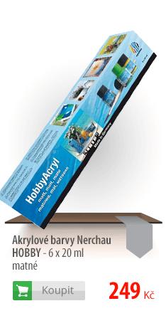 Akrylové barvy Nerchau Hobby