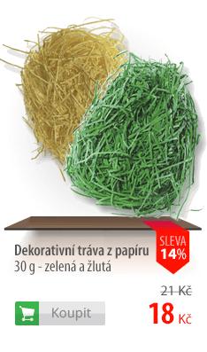 Dekorativní tráva papírová