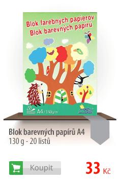 Blok barevných papírů