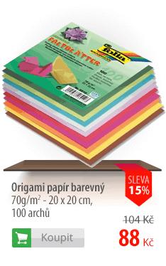 Origami papír barevný