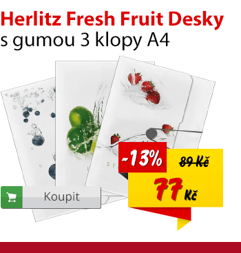 Herlitz desky s gumou Fresh fruit