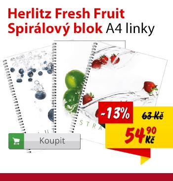 Herlitz spirálový blok Fresh fruit