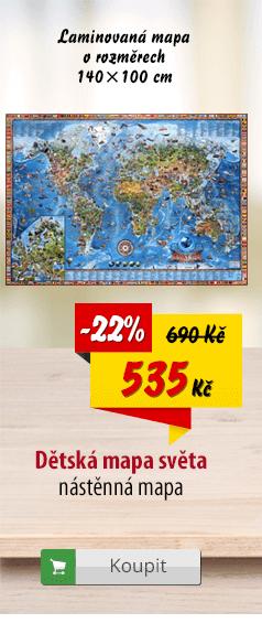 Laminovaná mapa světa