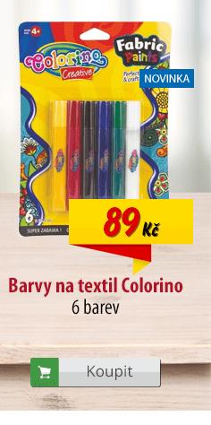 Barvy na textil Colorino