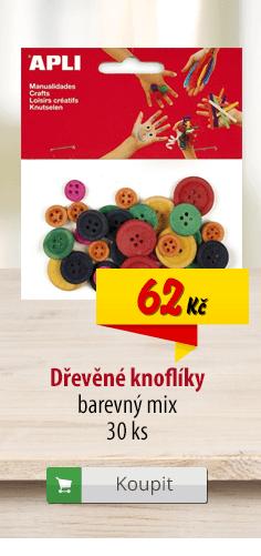 Dřevěné knoflíky barevné mix