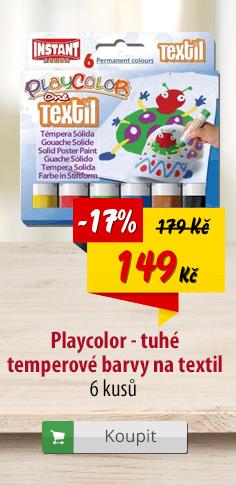 Playcolor tuhé temperové barvy na textil