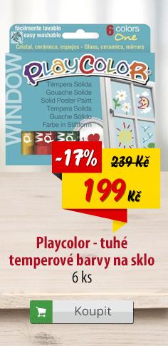 Playcolor tuhé temperové barvy na sklo