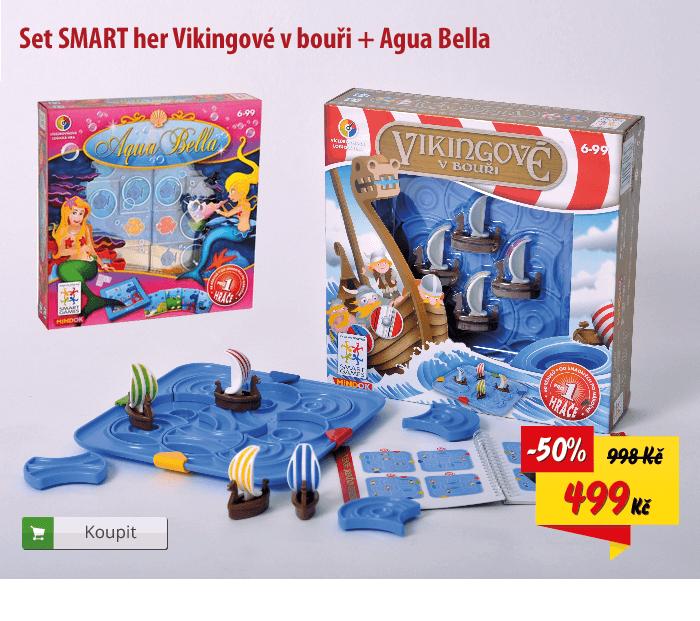 Hra Vikingové v bouři a Aqua Bella