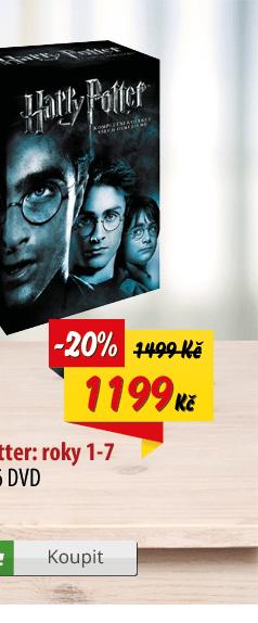 Harry Potter komplet DVD