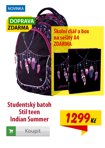 Studentský batoh Stil teen Indian Summer