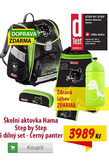 Aktovka Hama Step by Step Černý panter