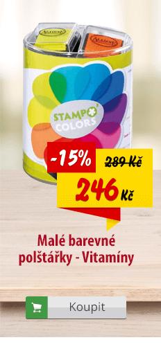 Malé barevné polštářky Vitamíny