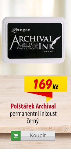 Polštářek s inkoustem Archival