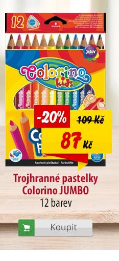 Trojhranné pastelky Colorino Jumbo