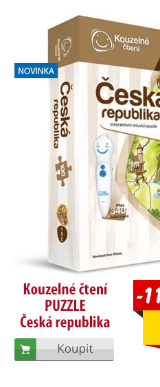 Kouzelné čtení Puzzle Česká republika