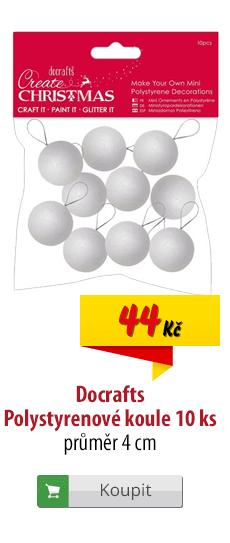 Polystyrenové koule Docrafts