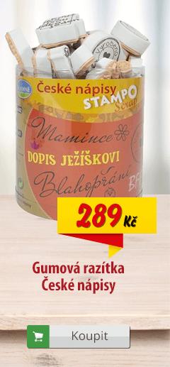 Gumová razítka České nápisy
