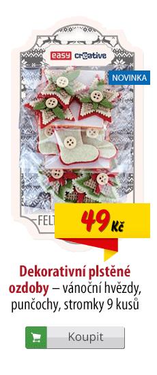 Plstěné ozdoby vánoční