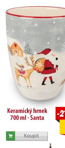 Keramický hrnek Santa