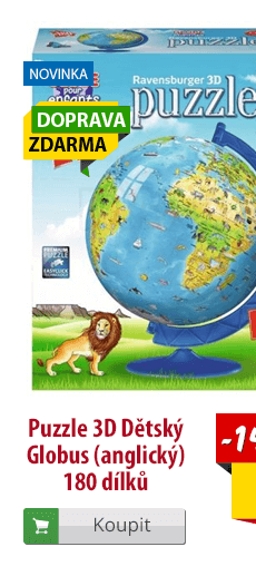 3D puzzle dětský globus anglický