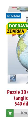 3D puzzle globus anglický