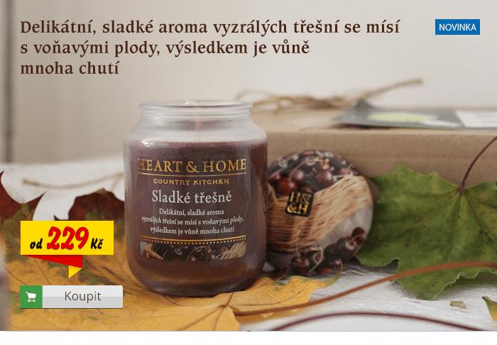 Svíčka Heart & Home Třešně