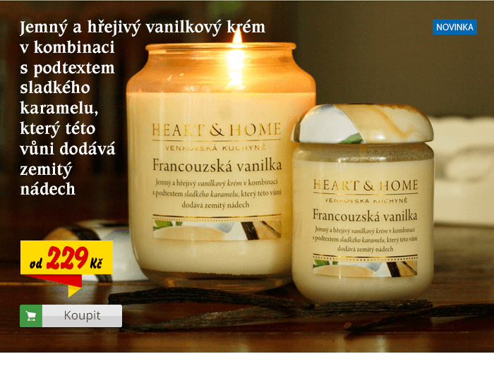 Svíčka Heart & Home Francouzská vanilka