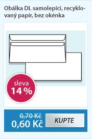 Obálka DL samolepící, recyklovaný papír, bez okénka