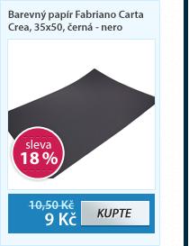 Barevný papír Fabriano Carta Crea, 35x50, černá - nero